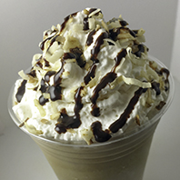 Close up of Mocha Coconut Frappe